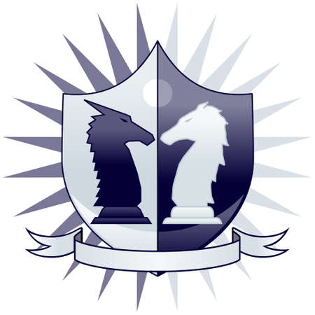 Chess crest - knights