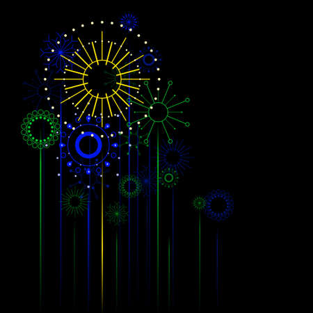Retro fireworks Stock Vector - 4776638