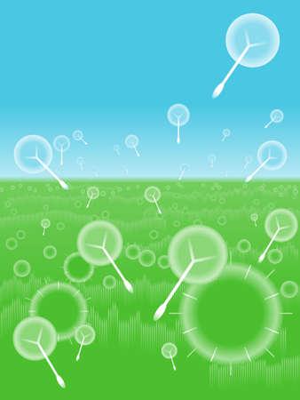 Dandelion background Vettoriali