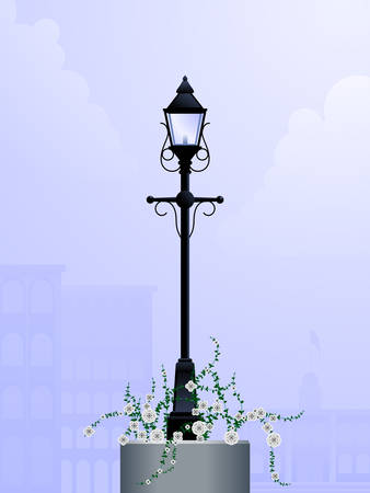 Daytime streetlamp Vector