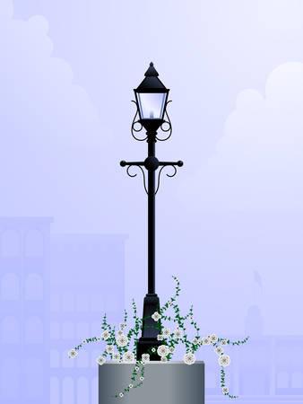 lamp post: Daytime streetlamp