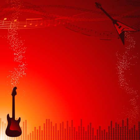 Rock music frame Vettoriali