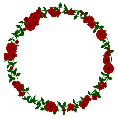 Rose frame 向量圖像