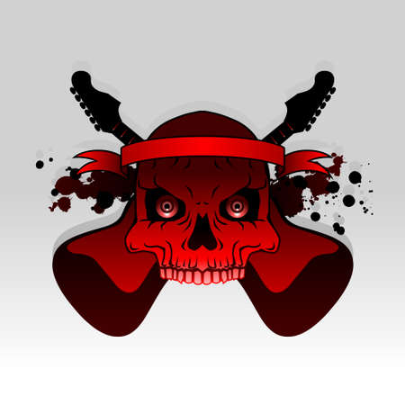 Rock skull - full color Stock Vector - 4861224