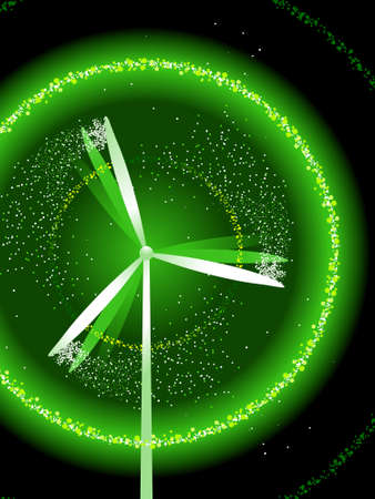 Green wind power with sparks