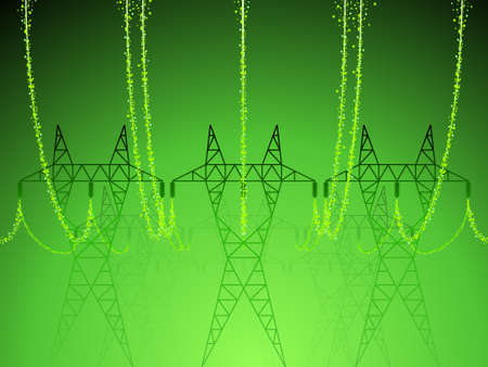 electrical tower: La energ�a verde