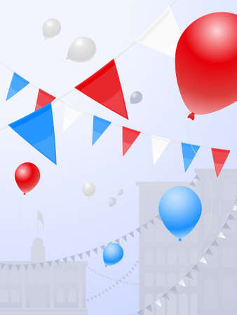 Red white and blue festival Vector