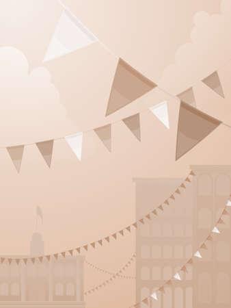 セピア色のトーン祭り  イラスト・ベクター素材