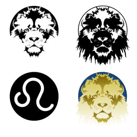 Leo zodiac sign 일러스트