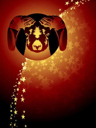 Aries zodiac background Vector