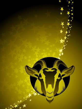 Capricorn zodiac background Illusztráció