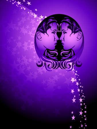 star background: Gemini zodiac background