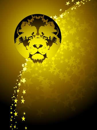 Leo zodiac background