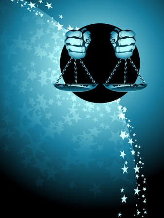 star background: Libra zodiac background