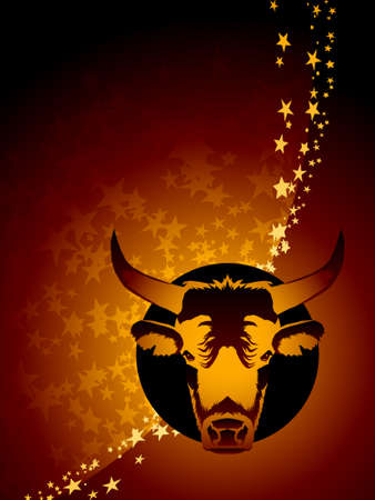 Taurus zodiac background