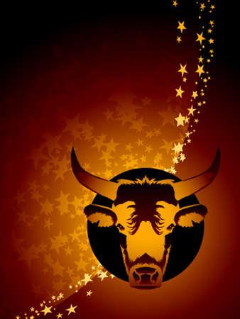 star background: Taurus zodiac background