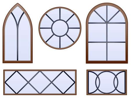 Decoratieve ramen Stock Illustratie
