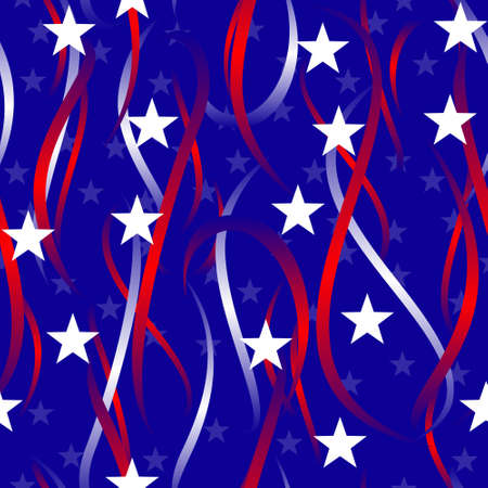 Patriotic swirls and stars