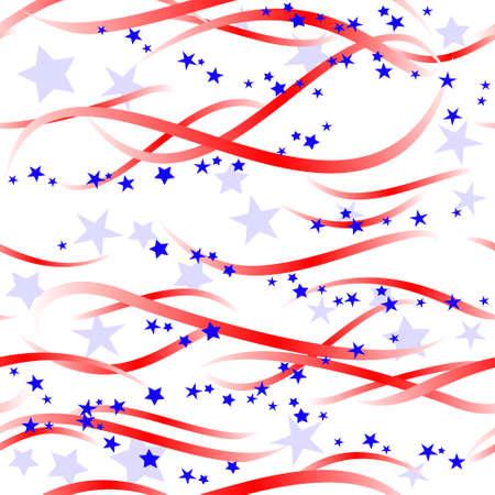 Patriotic swirls and stars Stock Vector - 4999940