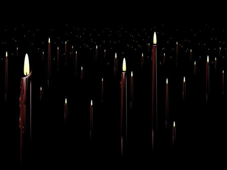 the wick: Red candle background Illustration