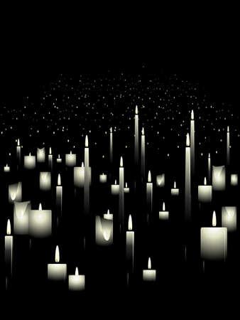흰색 촛불 배경