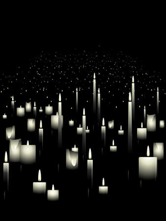 candle: White candle background Illustration