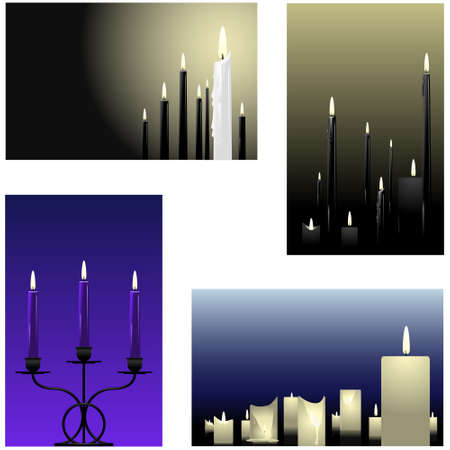Four candle backgrounds