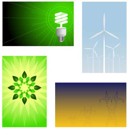 green energy backgrounds Vector