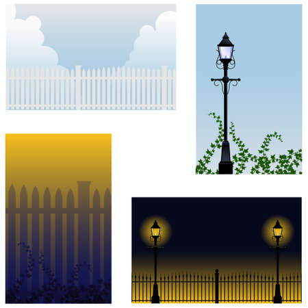 Four park backgrounds Stock Vector - 5104454