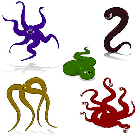 tentacle: Tentacle monsters Illustration