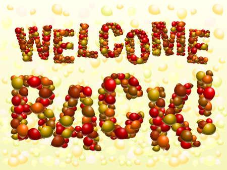 Welcome Back Ballons Standard-Bild - 5145664