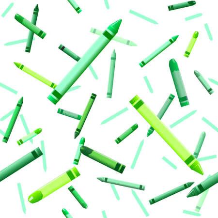 Green crayon background Stock Vector - 5169712