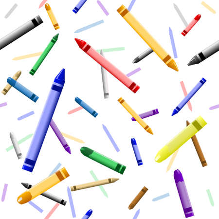 Colorful crayon background Vector