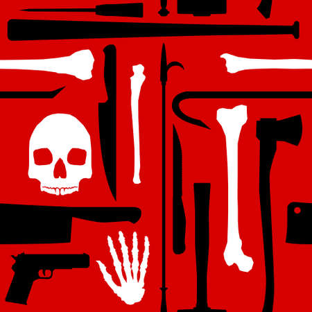Murder seamless background