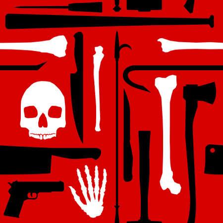 crowbar: Murder seamless background