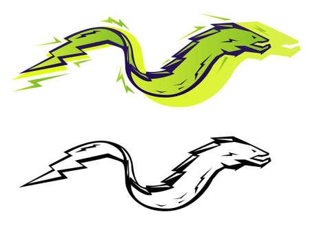Illustration graphique anguille