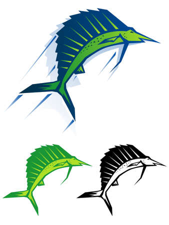 sailfish: Graphic sailfish illustration Illustration