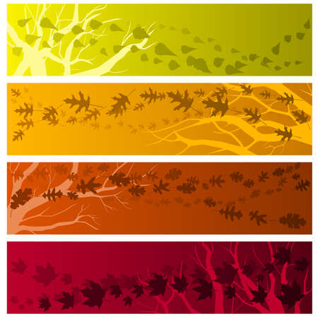 Autumn banners horizontal Vector