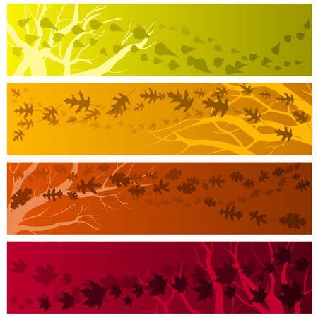 Herfst banners horizontaal Stock Illustratie