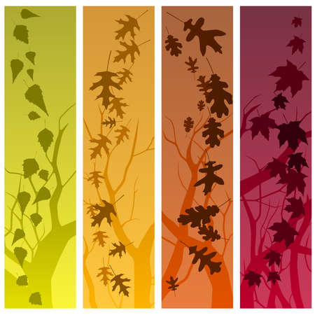 Autumn banners vertical Vector
