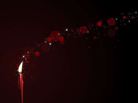 Red candle magic Vector