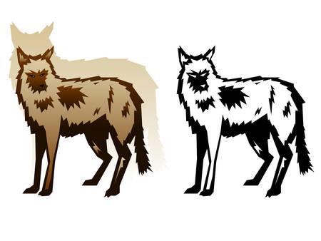Graphic Wolf Illustration