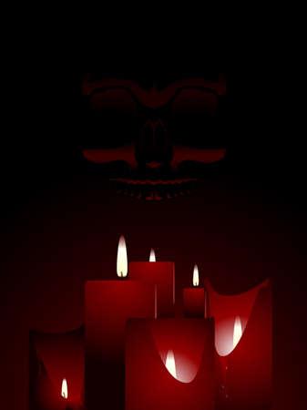Candlelit skull background