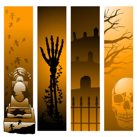 Vertical Halloween banners Vector