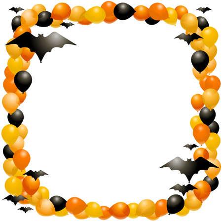 Halloween Balloon frame Stock Illustratie