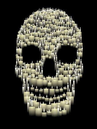 kaars schedel afbeelding