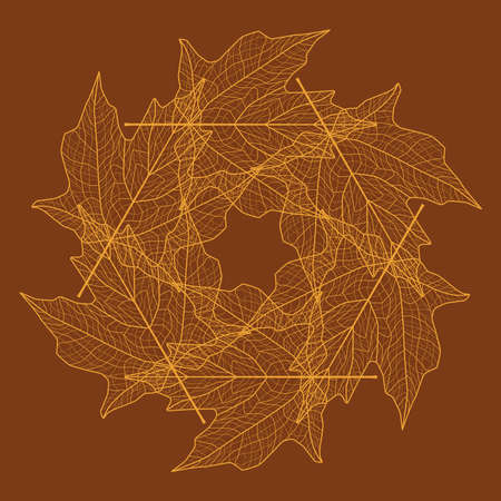Leaf pattern illustration - copper