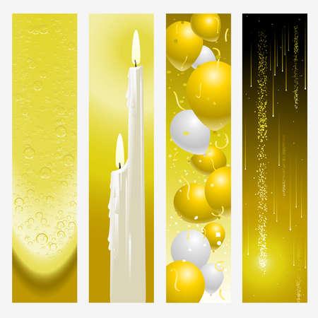 Golden wedding banners