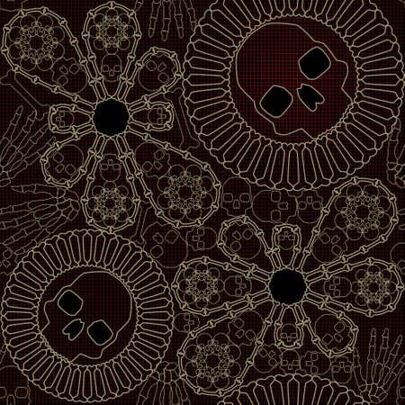 lace pattern: Bone lace seamless pattern Illustration