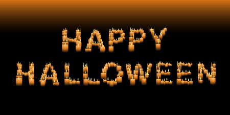 Candle Halloween sign Illusztráció